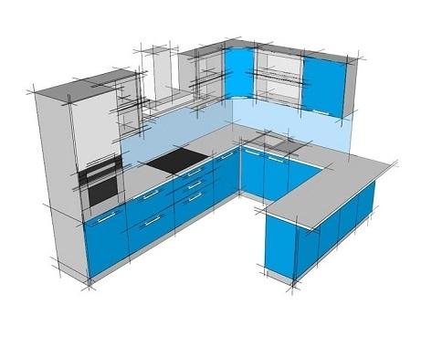 Кухни П-образные