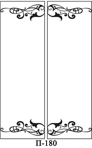 Створки пескоструй для 2-х дверей купе