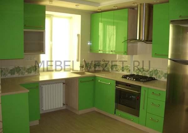 Фото кухонь из пластика салатовый